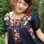 メキシコ刺繍のワンピース