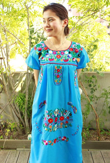 メキシカン刺繍ワンピ