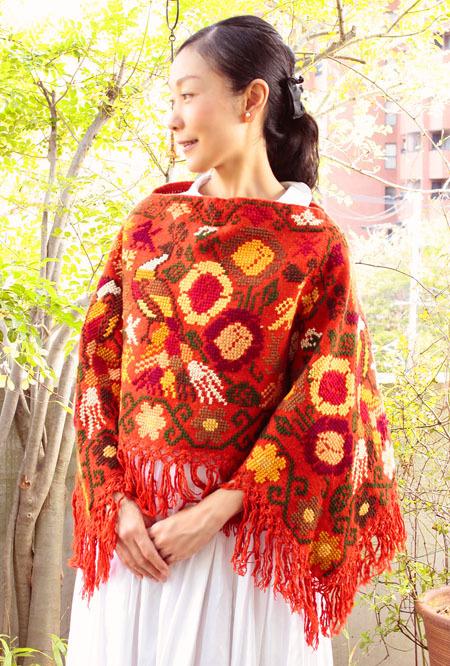 メキシコ刺繍ショール